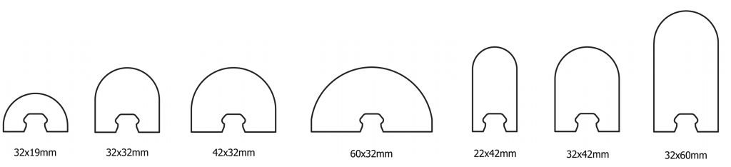 Sculptform Click-on Batten Dome profiles