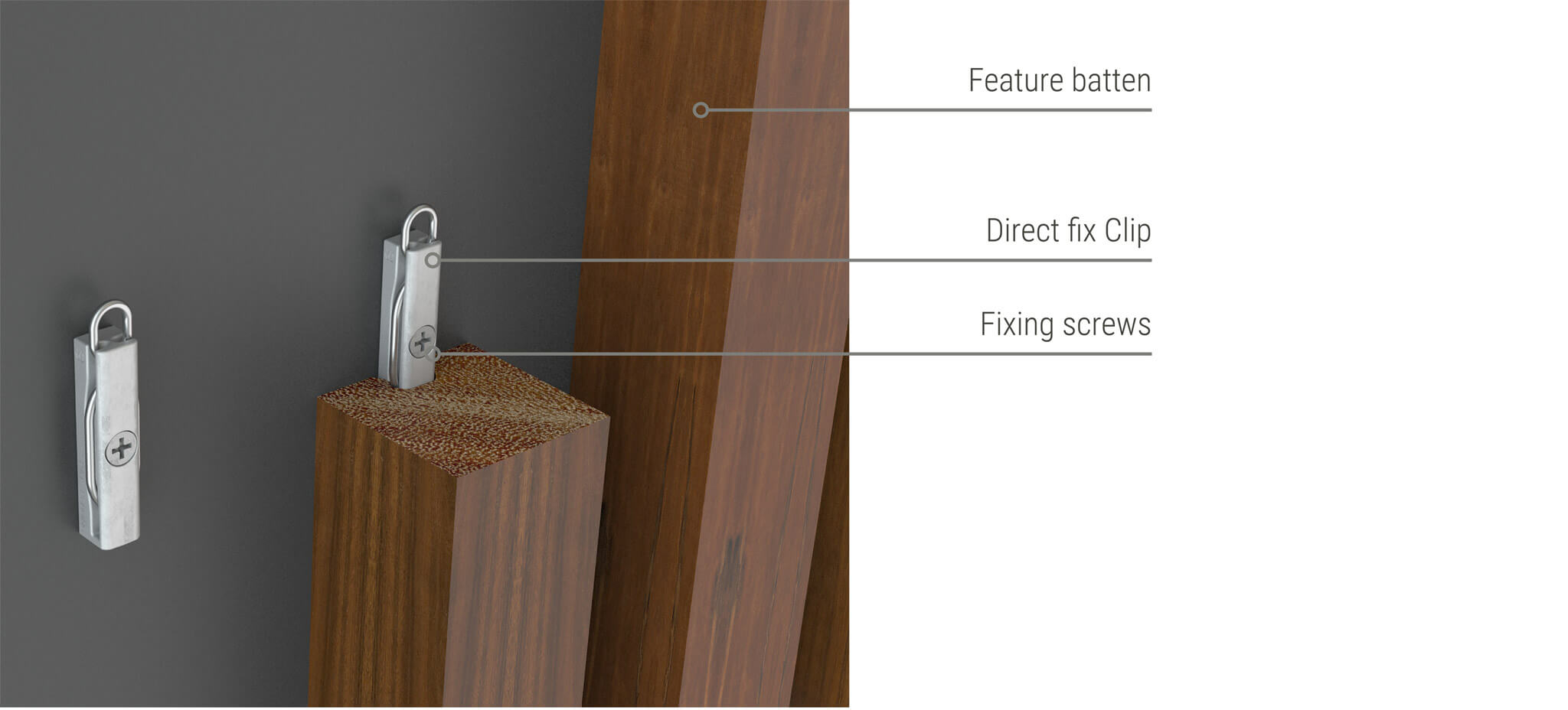 Sculptform-click-on-battens-direct-fix-clip