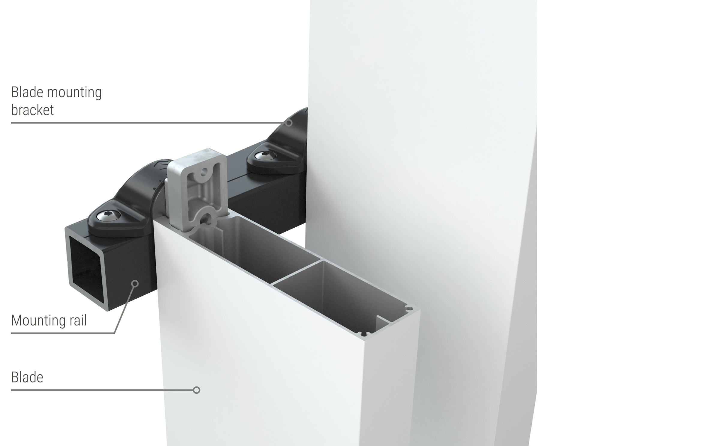 Facade blade system