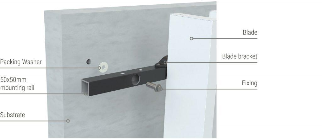 Sculptform Facade Blades direct fix mounting option
