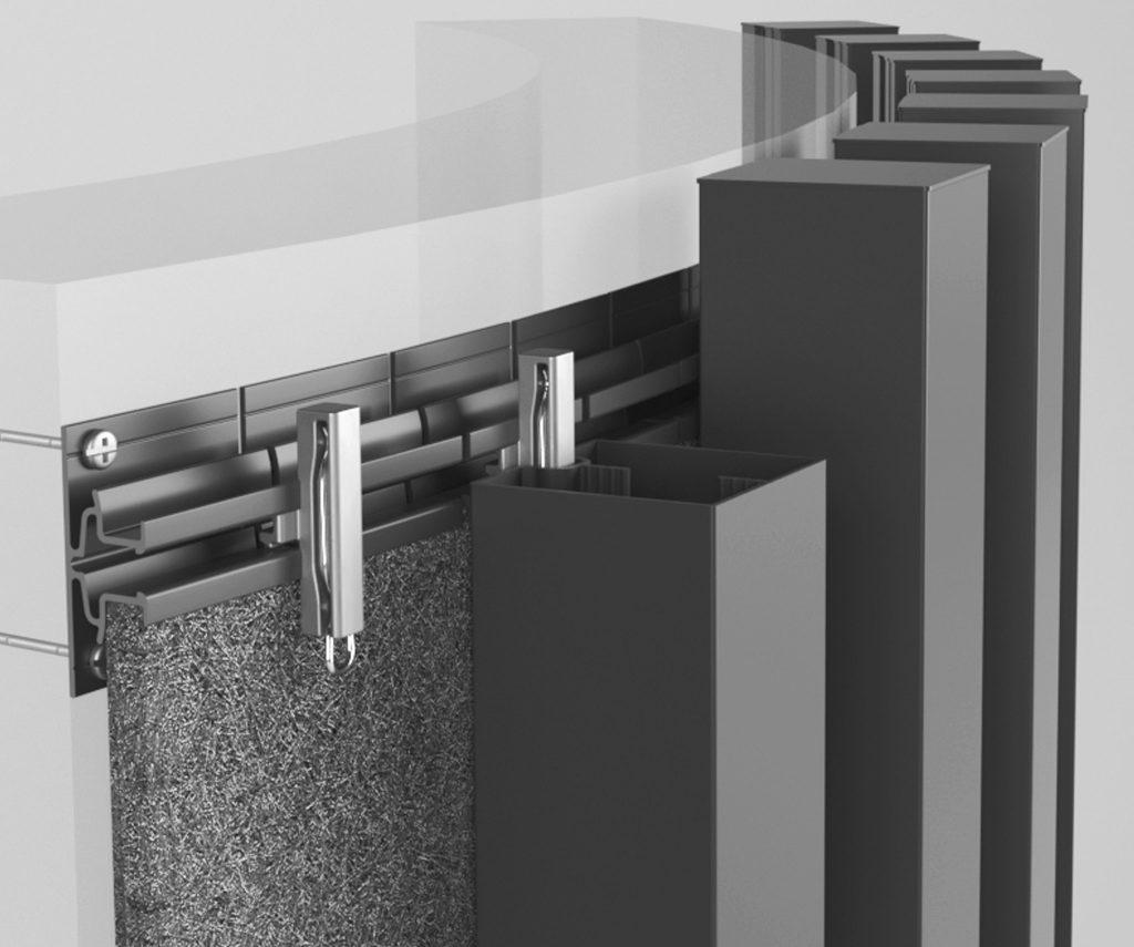 Curving mounting track - aluminium