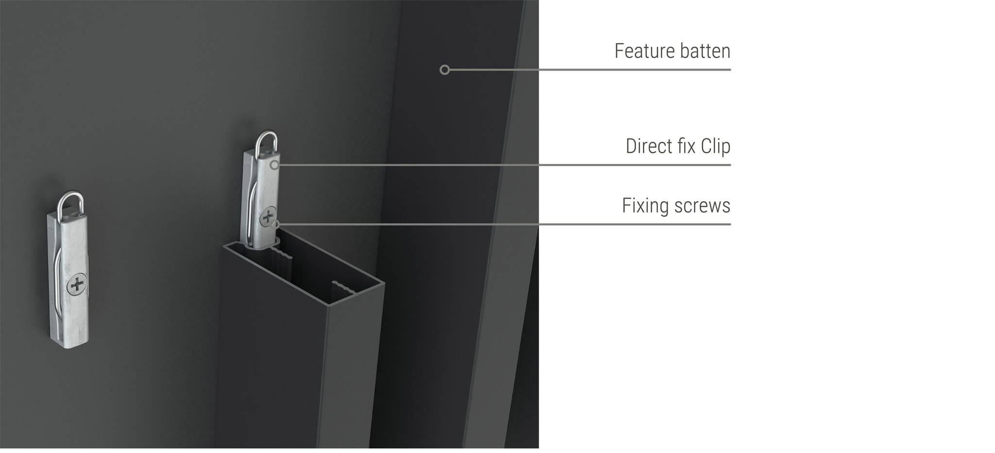 Sculptform-click-on-battens-alu-direct-fix-clip