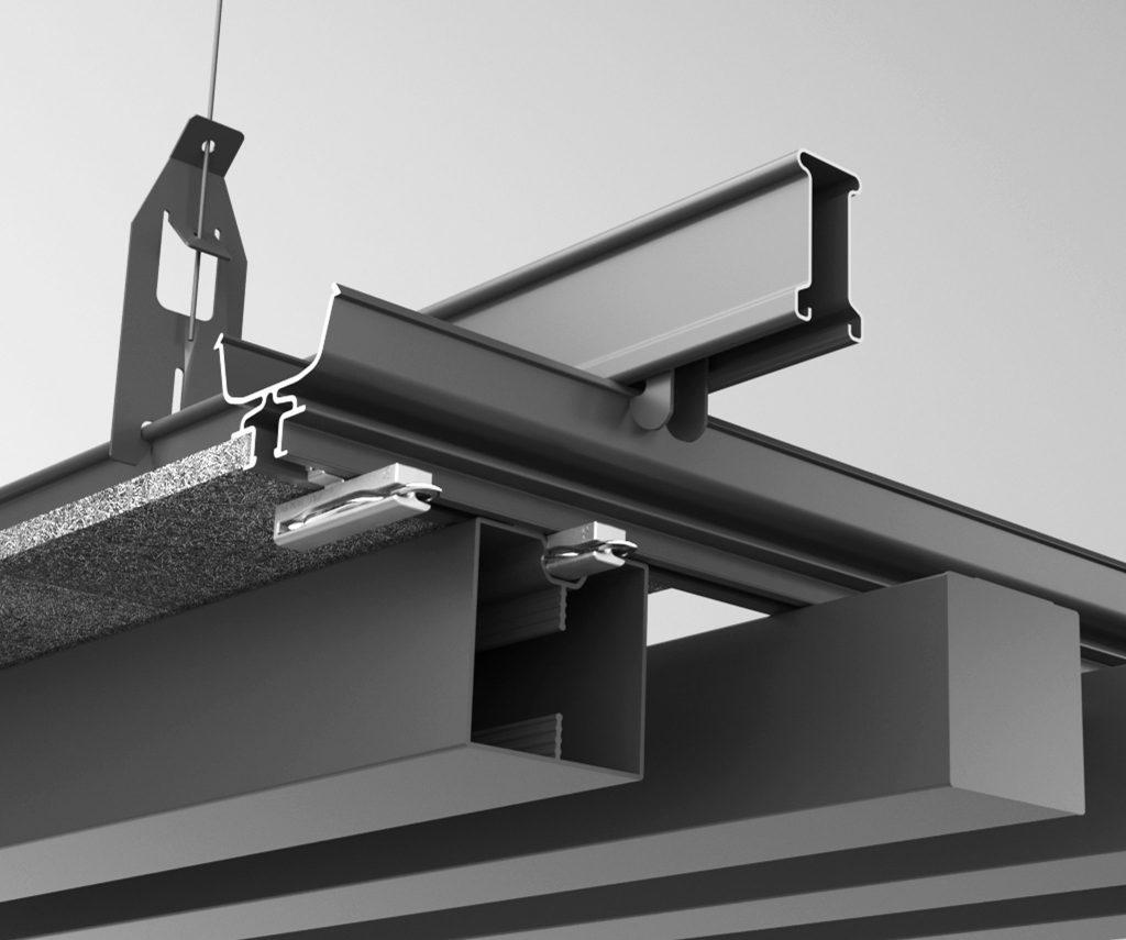 Suspended ceiling mounting track - aluminium