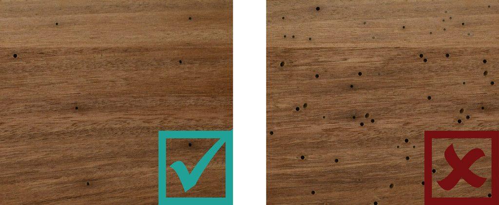 Sculptform Timber Grading - Borer Holes Standard