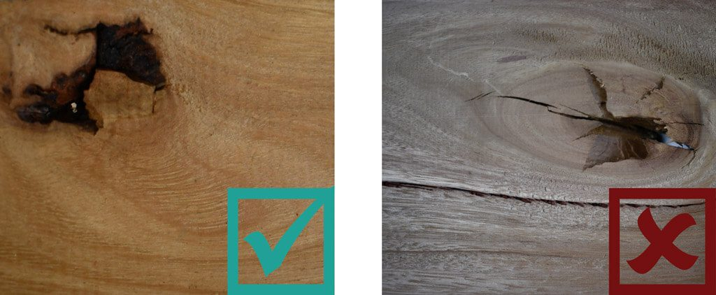 Sculptform Timber Grading - Knots Standard