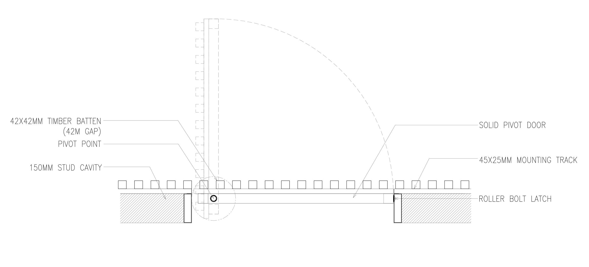 Sculptform Internal Pivot Door detail
