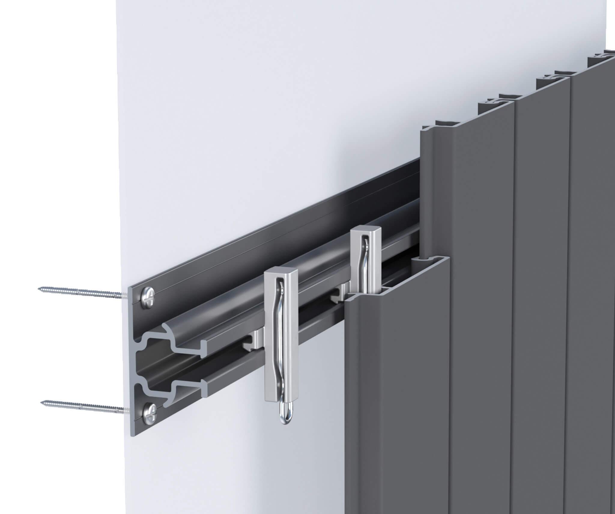 Sculptform Click-on Cladding standard mounting track