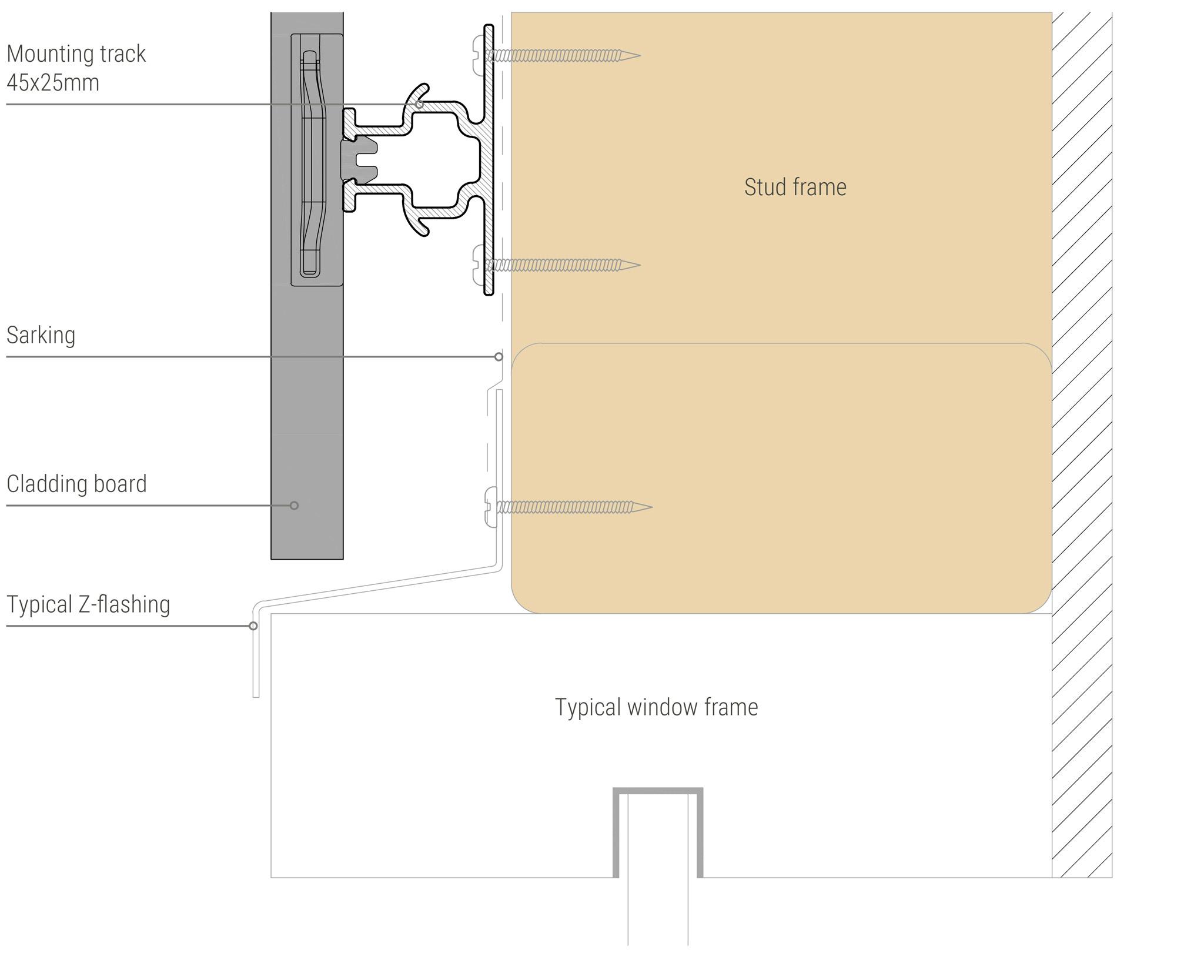 Sculptform Click-on Cladding window header detail