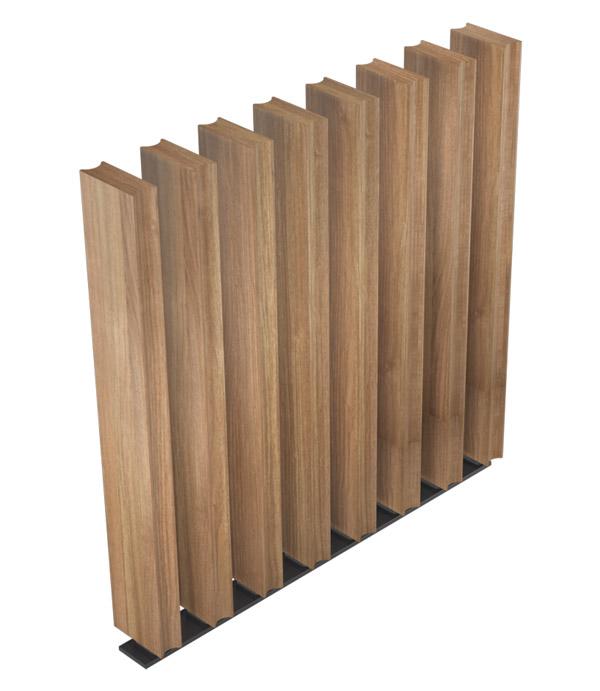 Sculptform Free Standing Timber Screen custom profile