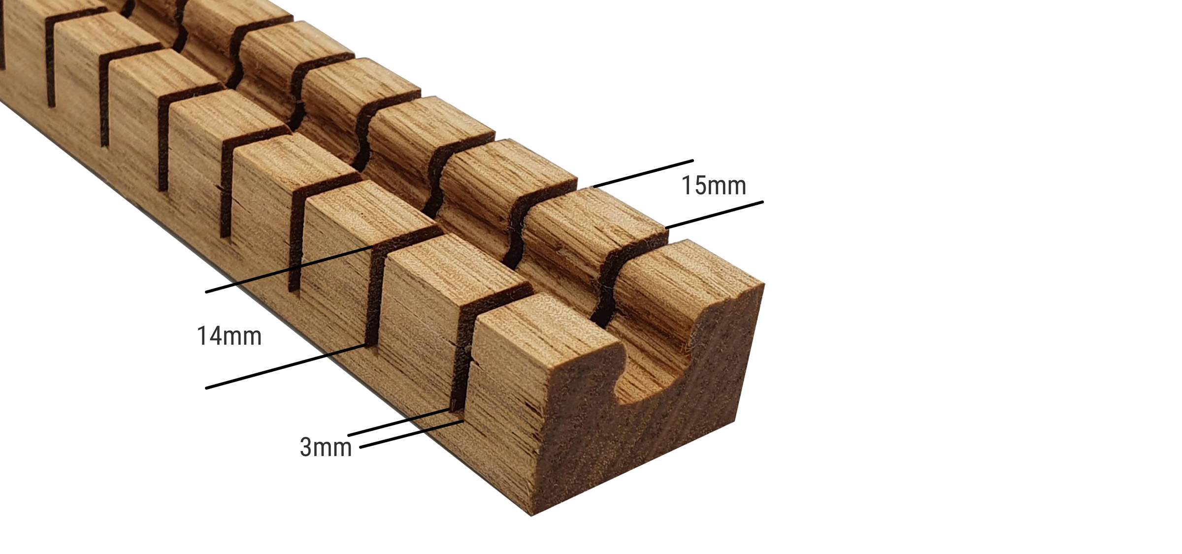 Kerfed timber specifications